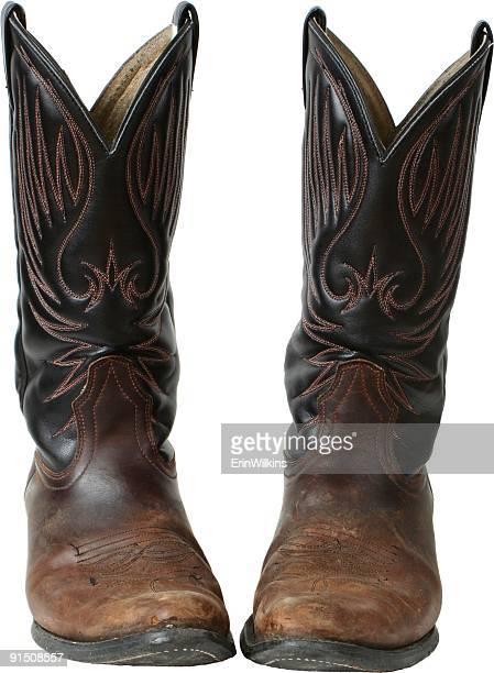 素朴なオル'boots - カウボーイブーツ ストックフォトと画像