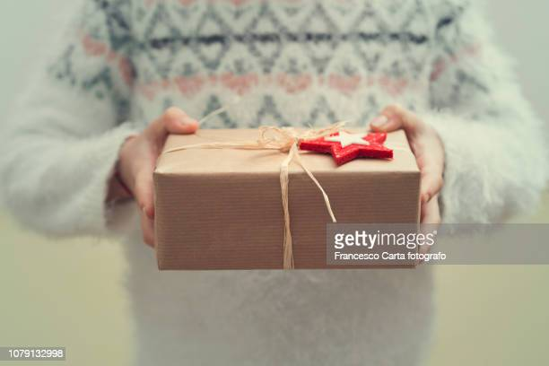 rustic present - christmas gifts stock photos and pictures