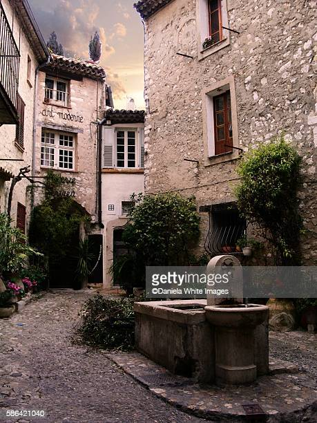 Rustic stone buildings in the medieval village of St Paul de Vance, Provence, France