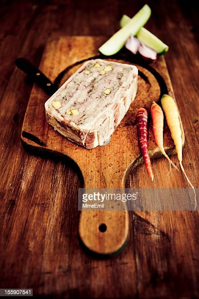rustic terrine - pate stock photos and pictures