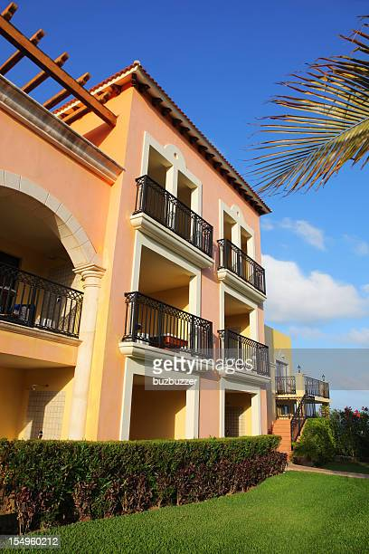 rustic tropical hotel - quintana roo stock photos and pictures