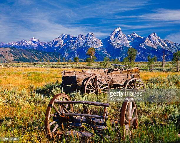 Rustic wagon in the Grand Teton National Park