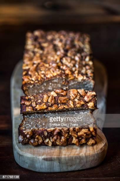 Rustic Walnut and Banana Bread, Sliced