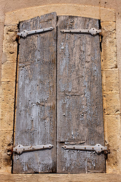 Rustic Window Shutters, Venterol, France