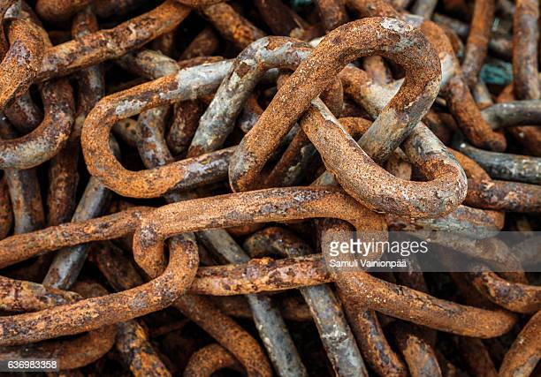 Rusting chain links