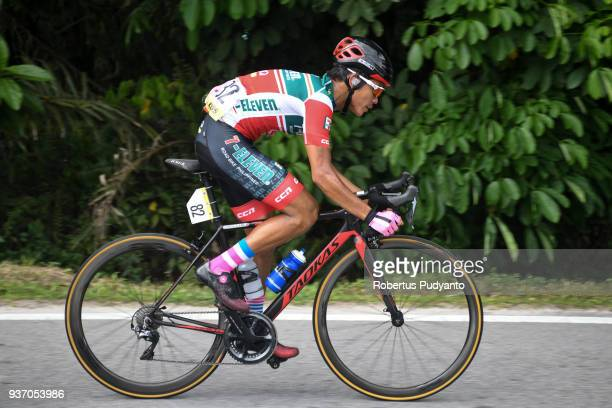 Rustom Lim of 7 ElevenCliqq Roadbike Philippines competes during Stage 6 of the Le Tour de Langkawi 2018 TapahTanjung Malim 1085 km on March 23 2018...