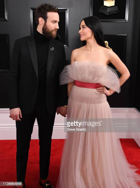 Ruston Kelly and Kacey Musgraves arrives at the 61st Annual GRAMMY Awards at Staples Center on February 10 2019 in Los Angeles California