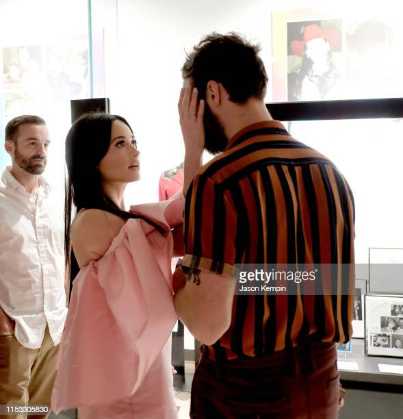 Ruston Kelly and Kacey Musgraves attend the Country Music Hall of Fame and Museum opening of new exhibition Kacey Musgraves All of the Colors at...