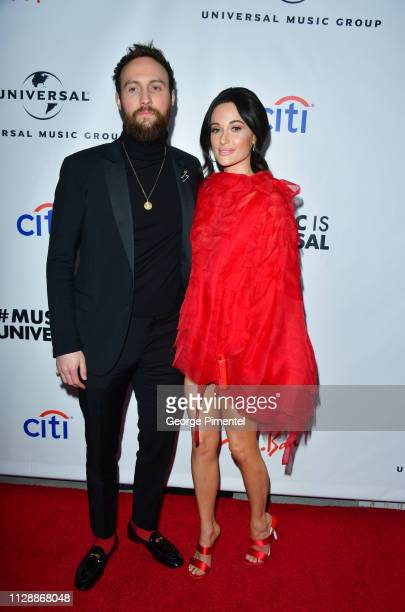 Ruston Kelly and Kacey Musgraves attends Universal Music Group's 2019 After Party Presented by Citi Celebrates Music's Biggest Night on February 9...