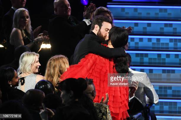 Ruston Kelly and Kacey Musgraves embrace during the 61st Annual GRAMMY Awards at Staples Center on February 10 2019 in Los Angeles California