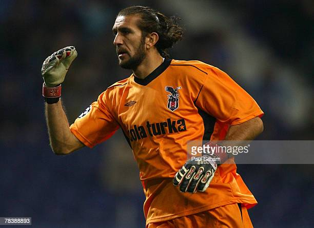 Rustu Recber of Besiktas in action during the UEFA Champions League Group A match between Porto and Besiktas at the Dragao Stadium on December 11,...