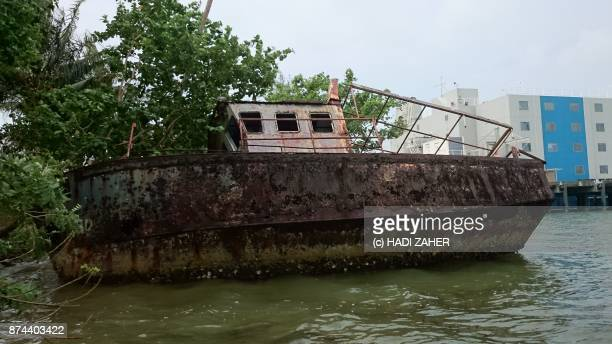 A rusty and old boat on Manus island