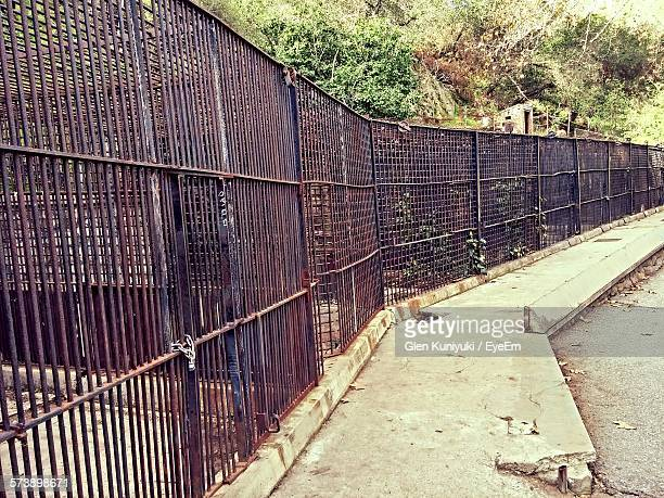 Rusty Cage In Abandoned Zoo