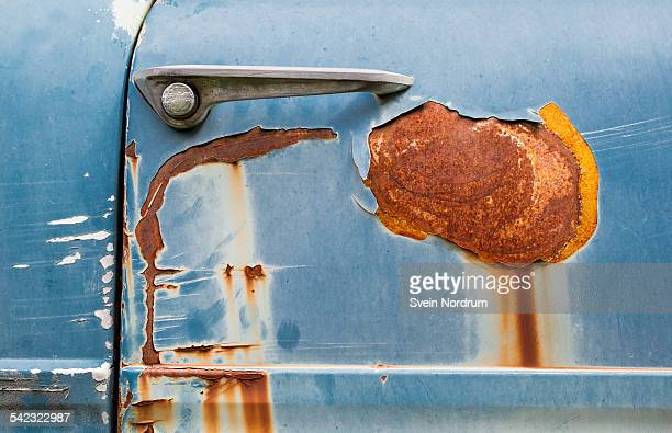 rusty car door - rusty stock pictures, royalty-free photos & images