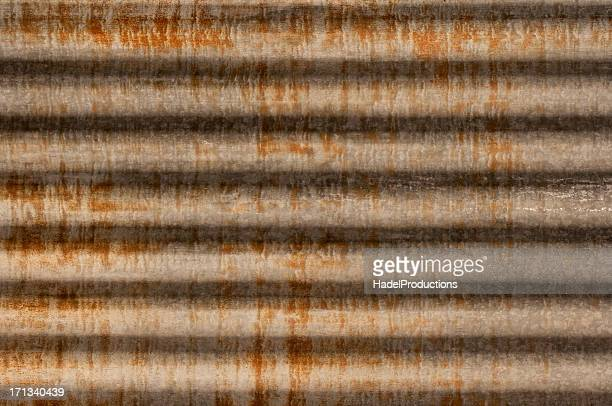 rusty corrugated iron metal texture