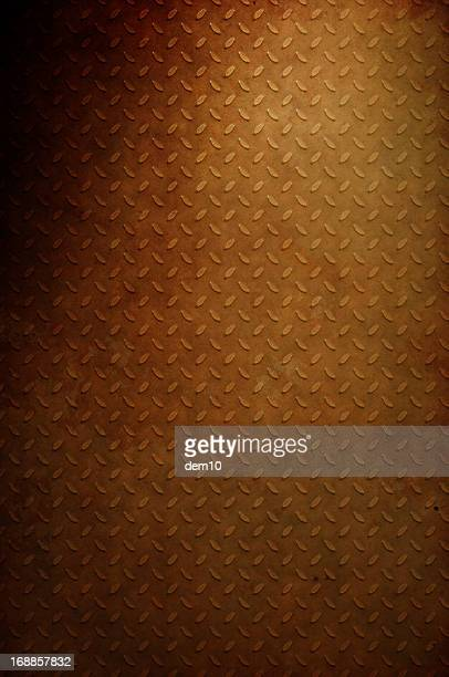 rusty diamond plate steel background