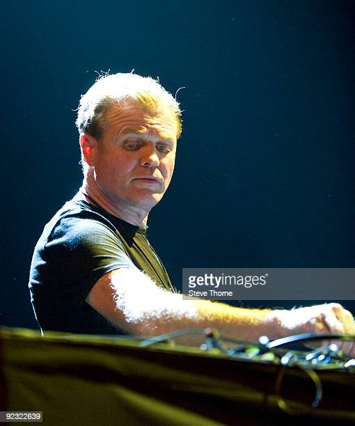 Rusty Egan DJ's prior to Spandau Ballet performing on stage at LG Arena on October 24, 2009 in Birmingham, England.
