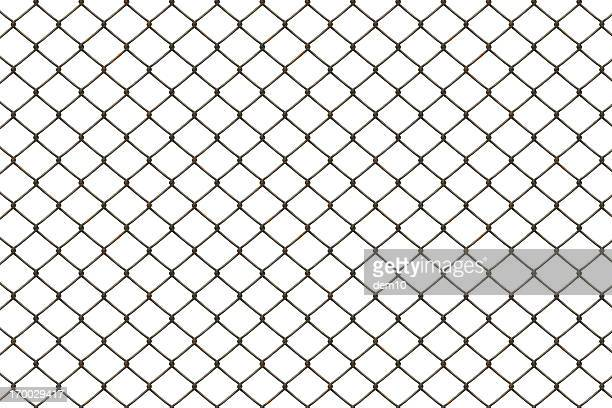 rusty fence - barbed wire stock pictures, royalty-free photos & images