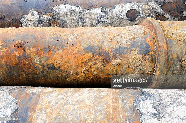 Rusty huge pipes