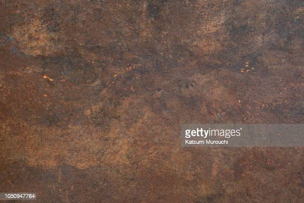 rusty iron plate texture background - metallic stock pictures, royalty-free photos & images