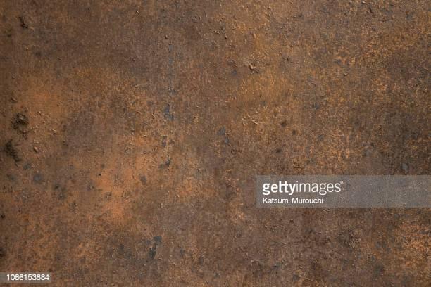 rusty iron plate texture background - arrugginito foto e immagini stock
