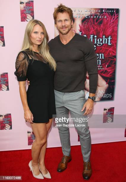 Rusty Joiner and Charity Walden attend Brian Edwards book release event hosted by Cindy Crawford at the Malibu Lumber Yard on August 22 2019 in...