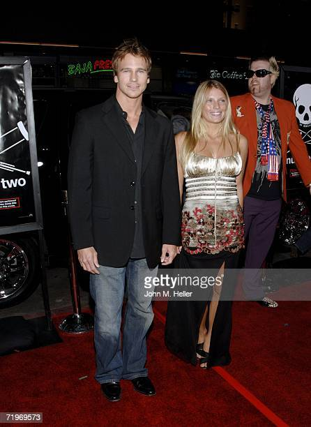 Rusty Joiner and Charity Walden attend the world premiere of Jackass Number Two at Grauman's Chinese Theatre on September 21 2006 in Hollywood...