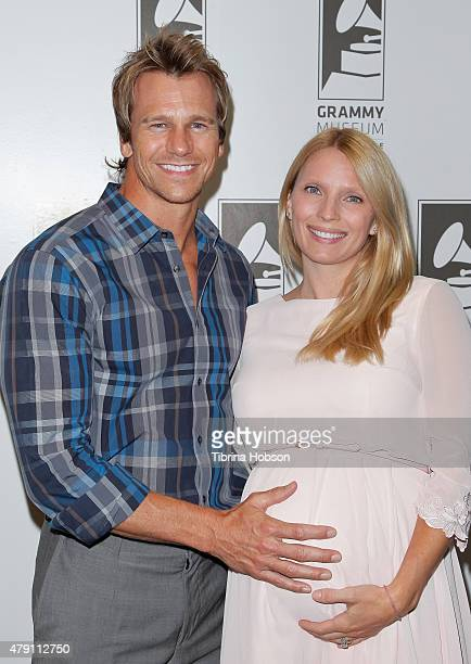 Rusty Joiner and his wife Charity Walden Joiner attend an evening with Melissa Rivers at The GRAMMY Museum on June 30 2015 in Los Angeles California