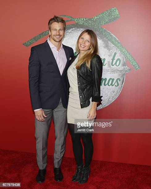 Rusty Joiner and wife Charity Walden attend the Screening Of Hallmark Channel's A Nutcracker Christmas at The Grove on December 5 2016 in Los Angeles...