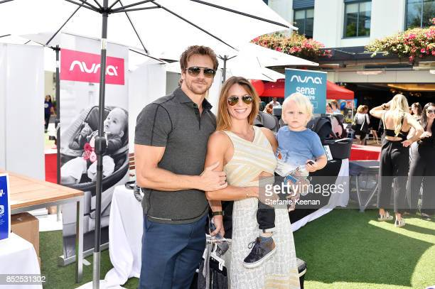 Rusty Joiner Charity Walden and child attend Step 2 Presents 6th Annual Celebrity Red CARpet Safety Awareness Event on September 23 2017 in Culver...