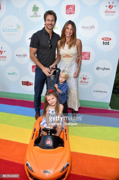 Rusty Joiner Charity Walden and family at Step 2 Presents 6th Annual Celebrity Red CARpet Safety Awareness Event on September 23 2017 in Culver City...
