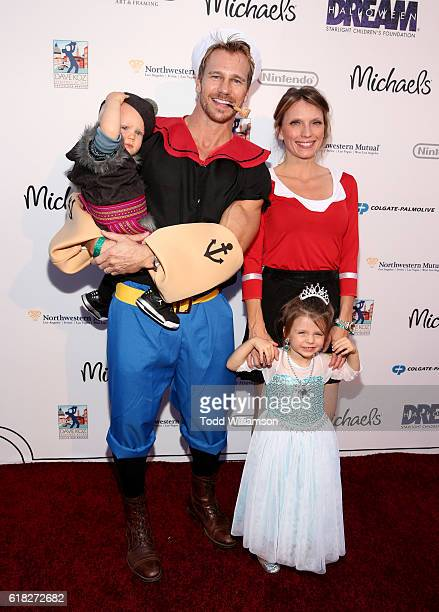 Rusty Joiner Charity Walden and family attend Starlight's Dream Halloween 2016 on October 22 2016 in Los Angeles California