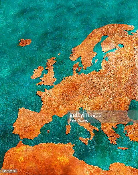 Rusty map of europe