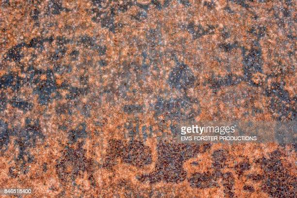 rusty metal background - rough structure - ems forster productions stock pictures, royalty-free photos & images