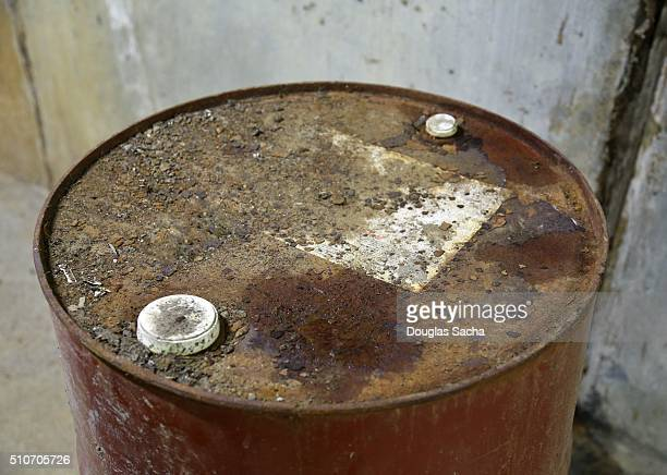 Rusty Metal chemical Container
