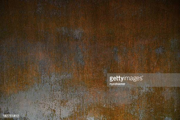 rusty metal plate background - metallic stock photos and pictures