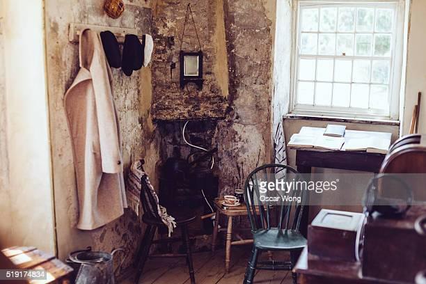 Rusty old-fashioned English domestic interior