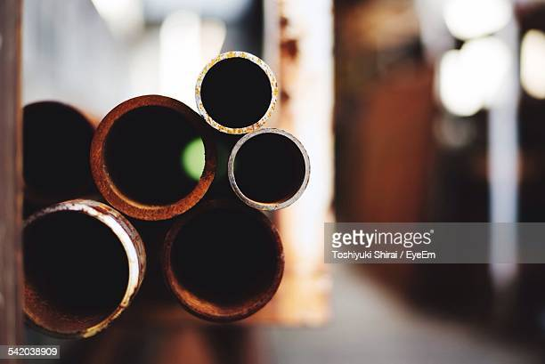 Rusty Pipes In Warehouse