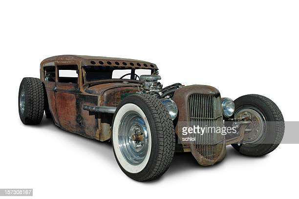 rusty rat rod - hot rod car stock photos and pictures