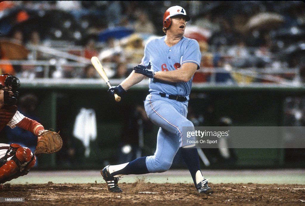Rusty Staub #6 of the Montreal Expos bats against the Philadelphia Phillies during an Major League Baseball game circa 1979 at Veterans Stadium in Philadelphia, Pennsylvania. Staub played for the Expos from 1969-71 and 1979.