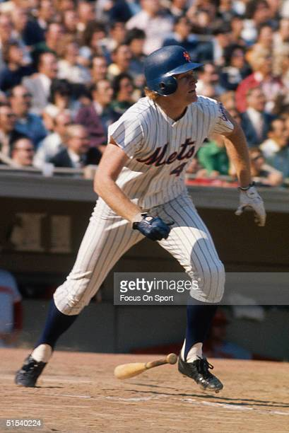 Rusty Staub of the New York Mets heads for first base against the Cincinnati Reds and runs for first at Shea Stadium in Flushing New York circa 1972