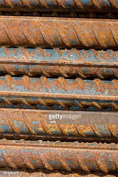 rusty steel bars