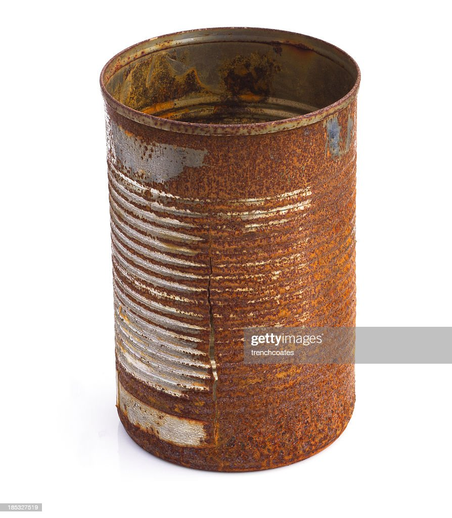 Old Rusty Crumbled Tin Can Royalty Free Stock Photography ... |Rusty Tin