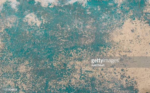rusty turquoise wall - rusty stock pictures, royalty-free photos & images