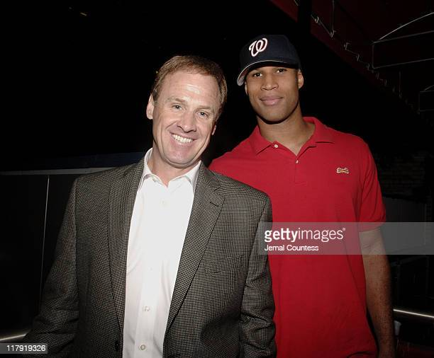 Rusty Wallace and Richard Jefferson during Top Flight Ben Hogan and NASCAR Host Silent Auction for The Victory Junction Gang Camp for Children at...