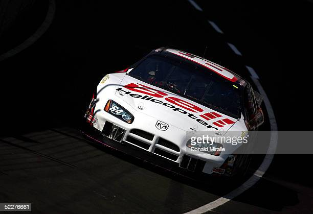 Rusty Wallace drives his Bell Helicopter Dodge Intrepid during the practice for the Telcel Mexico 200 Nascar Busch Series Race on March 4, 2005 at...