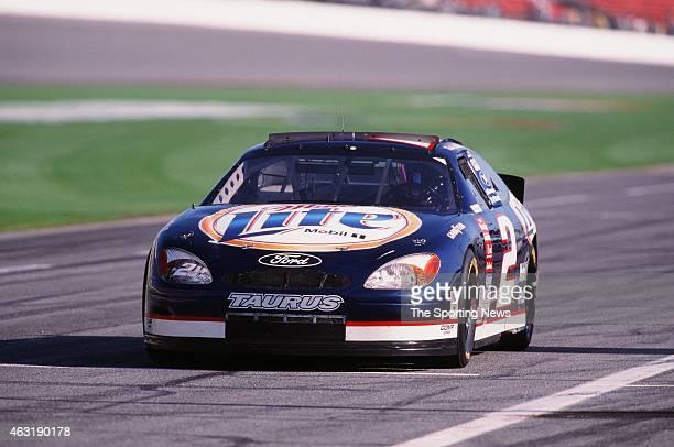 Rusty Wallace drives his car during the Daytona 500 at the Daytona International Speedway on February 16 2001 in Daytona Beach Florida