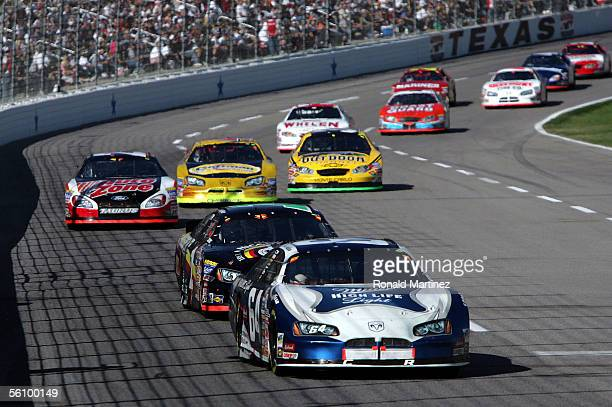 Rusty Wallace drives the Miller High Life Light Dodge during the NASCAR Busch Series O'Reilly Challenge 300 on November 5 2005 at Texas Motor...
