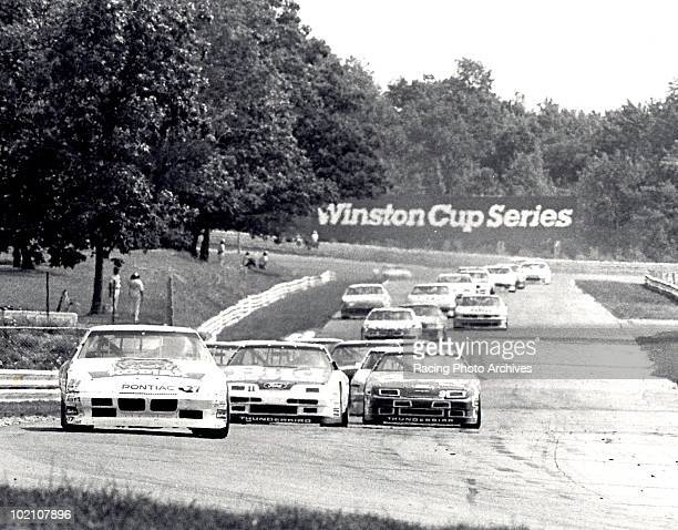 Rusty Wallace leads the field during the Budweiser At The Glen Wallace would finish first and take home $56400 for the race