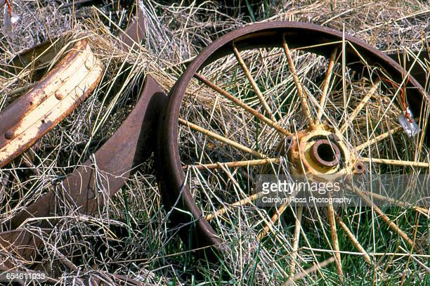rusty wheels - carolyn ross stock pictures, royalty-free photos & images